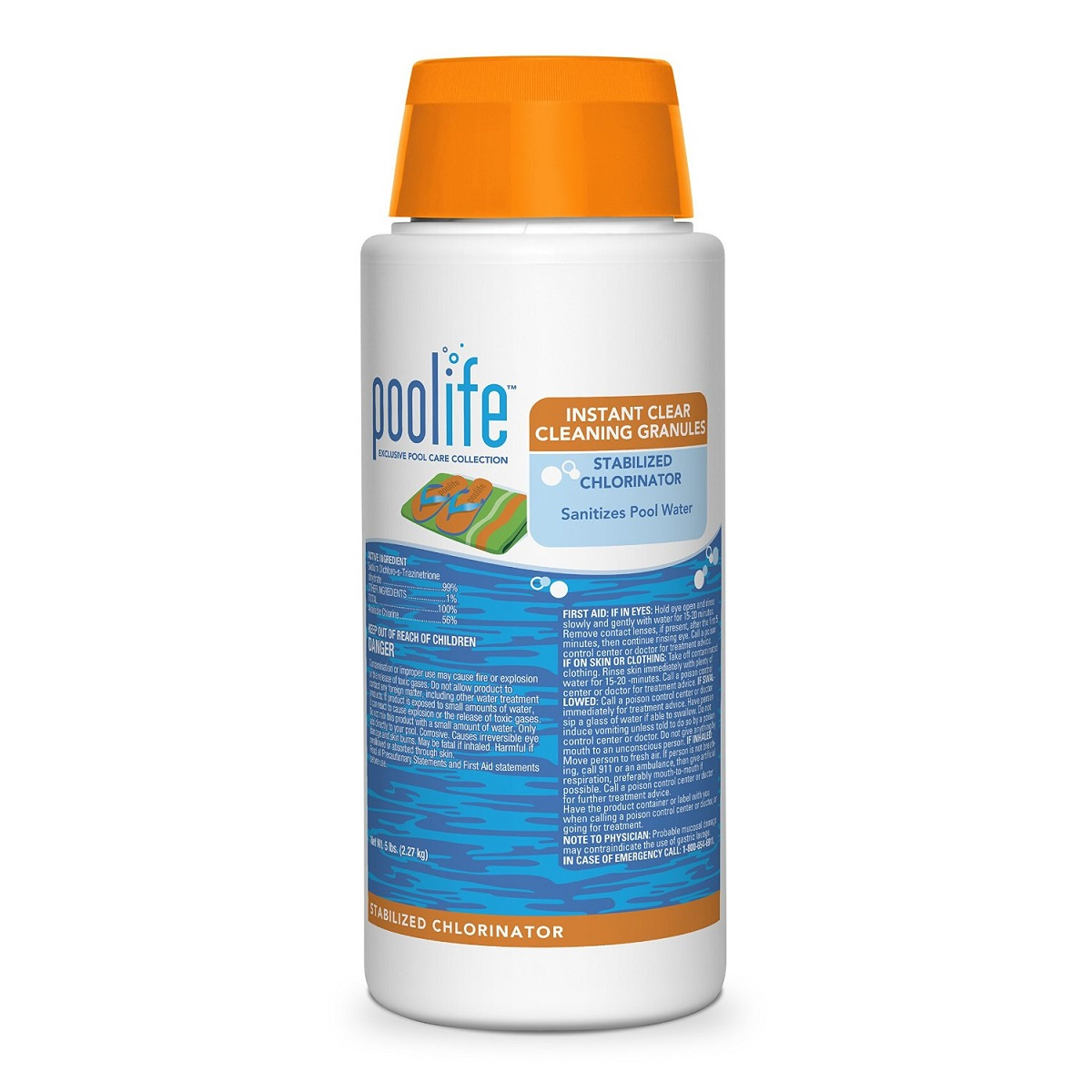 Poolife instant clear cleaning granules stabilized for Easy care pool products
